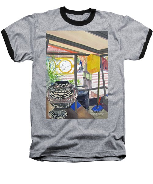 Baseball T-Shirt featuring the painting Frank Lloyd Wright Taliesin West by Carol Flagg