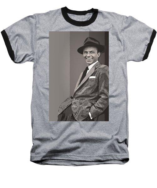 Frank Sinatra Baseball T-Shirt by Daniel Hagerman