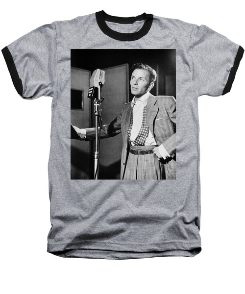 Frank Sinatra Baseball T-Shirt by Mountain Dreams