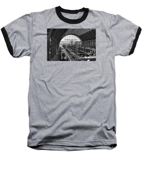 Frankfurt Bahnhof - Train Station Baseball T-Shirt