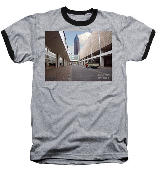 Frankfurter Messe Turm Baseball T-Shirt