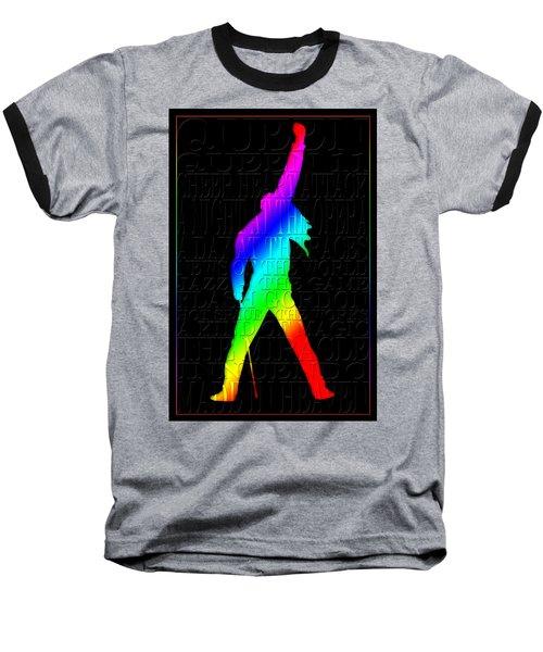 Freddie Mercury 2 Baseball T-Shirt