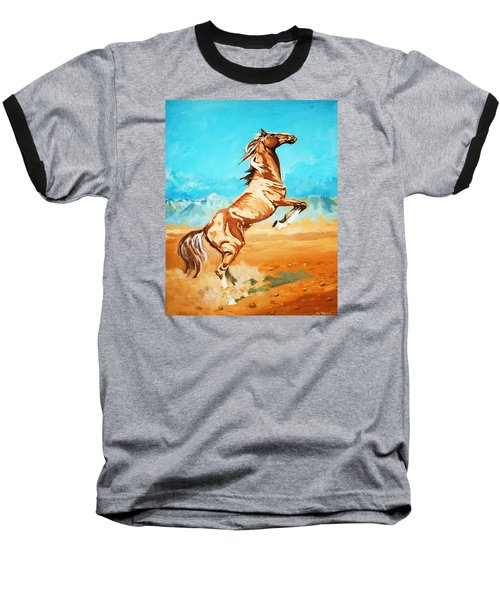 Baseball T-Shirt featuring the painting Free Spirit by Al Brown