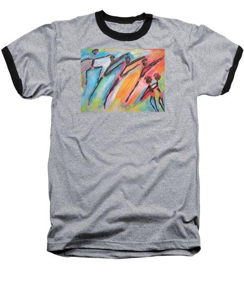 Freedom Joyful Ballet Baseball T-Shirt by Judith Desrosiers