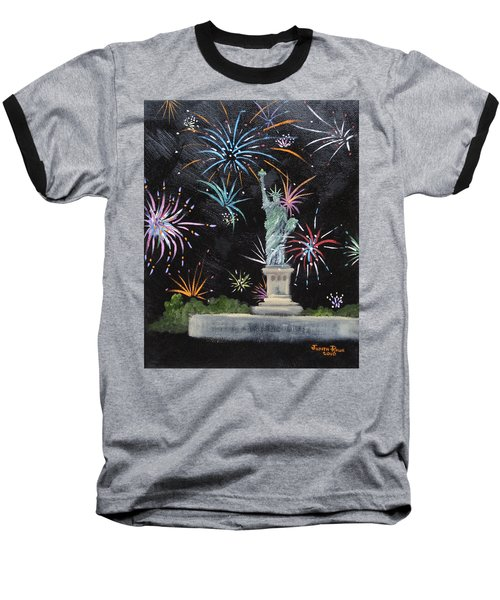 Baseball T-Shirt featuring the painting Freedom by Judith Rhue