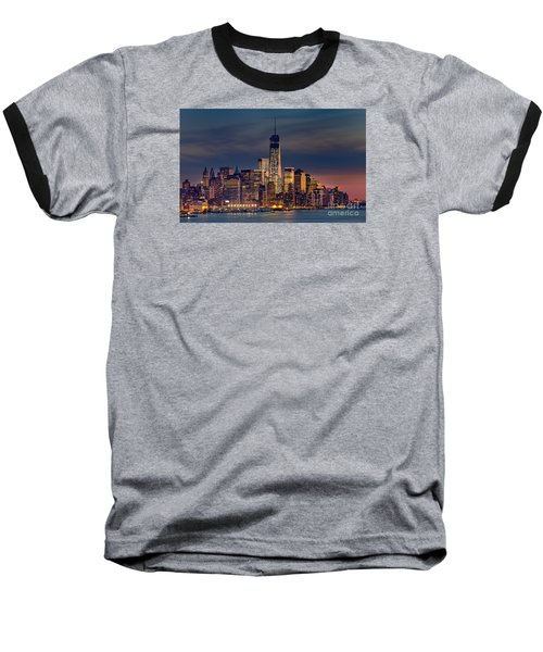 Freedom Tower Construction End Of 2013 Baseball T-Shirt by Jerry Fornarotto