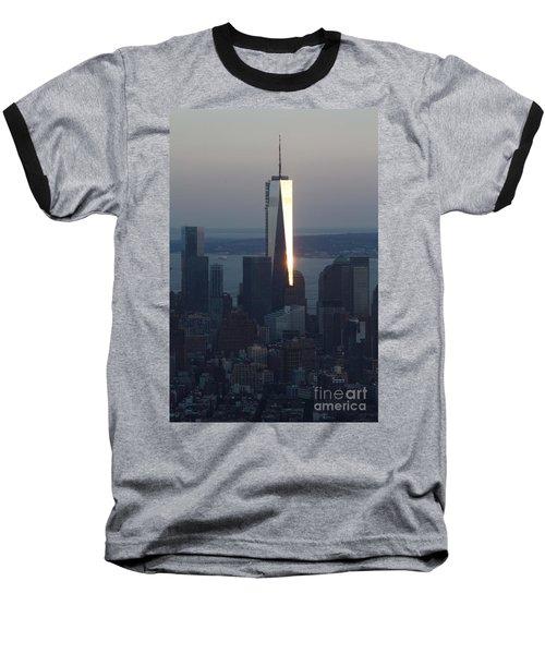 Freedom Tower Baseball T-Shirt by John Telfer