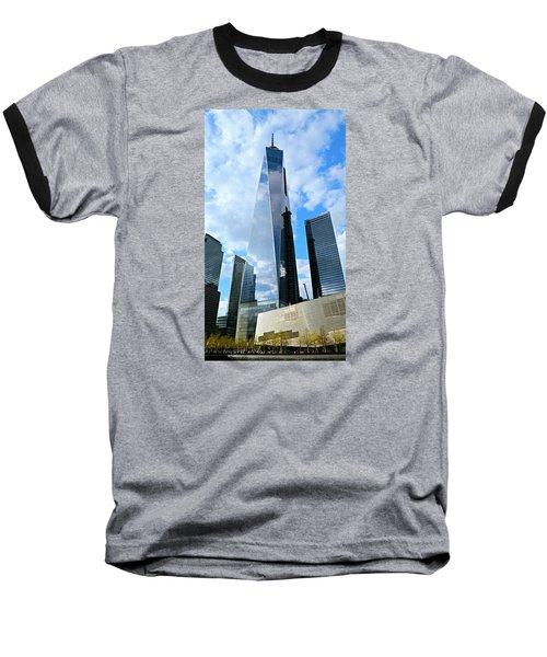 Freedom Tower Baseball T-Shirt by Stephen Stookey