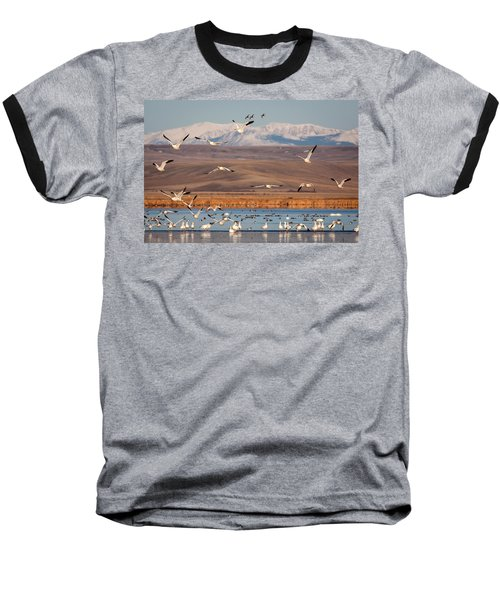 Baseball T-Shirt featuring the photograph Freeze Out Lake Morning by Jack Bell