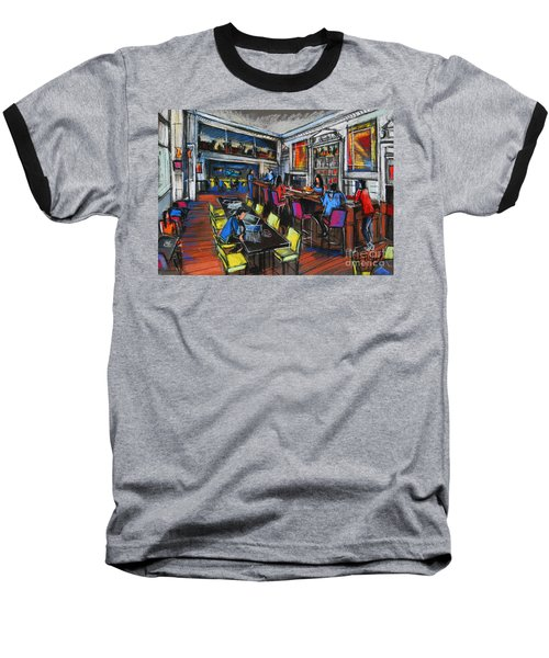 French Cafe Interior Baseball T-Shirt