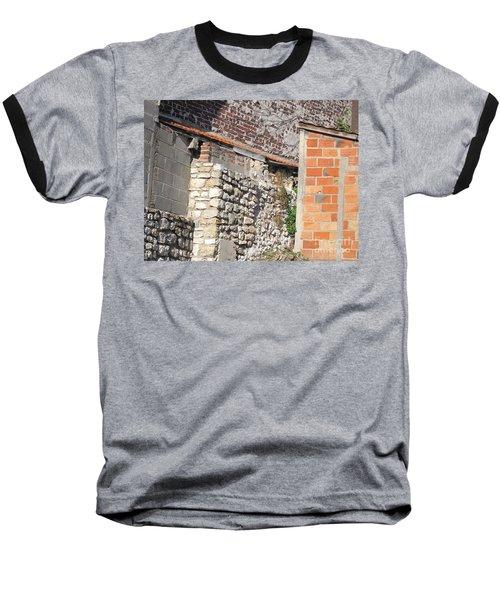 French Farm Wall Baseball T-Shirt by HEVi FineArt