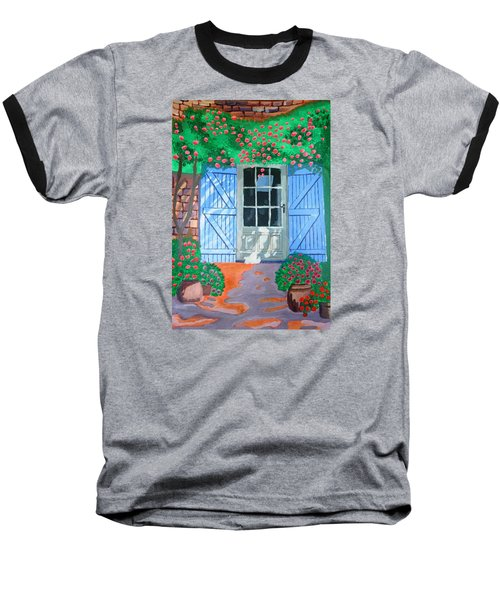 Baseball T-Shirt featuring the painting French Farm Yard by Magdalena Frohnsdorff