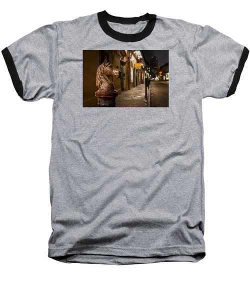 French Quarter Hitching Post Baseball T-Shirt