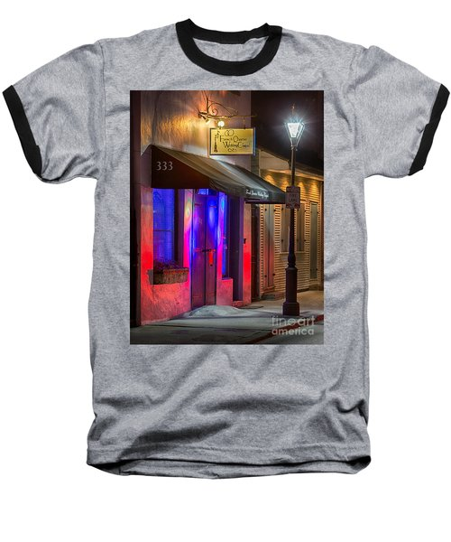 French Quarter Wedding Chapel Baseball T-Shirt by Jerry Fornarotto