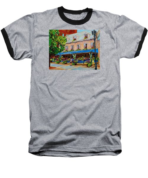 French Restaurant Jardin Nelson Paris Style Bistro Place Jacques Cartier Terrace Garden C Spandau   Baseball T-Shirt