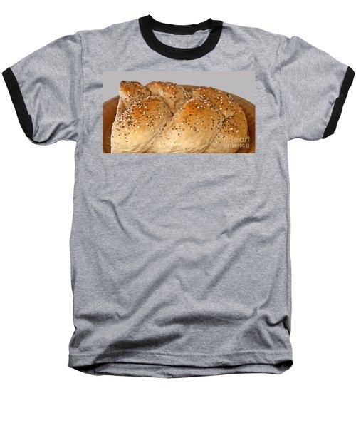 Fresh Challah Bread Art Prints Baseball T-Shirt by Valerie Garner