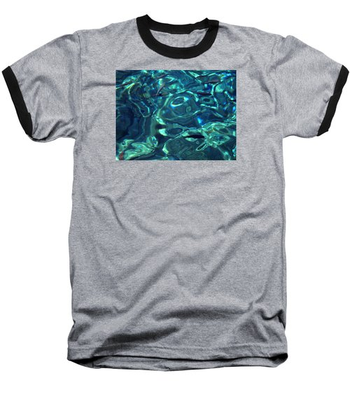 Fresh Clean Santorini Ocean  Water Baseball T-Shirt