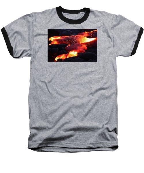 Fresh Lava Flow Baseball T-Shirt by Venetia Featherstone-Witty