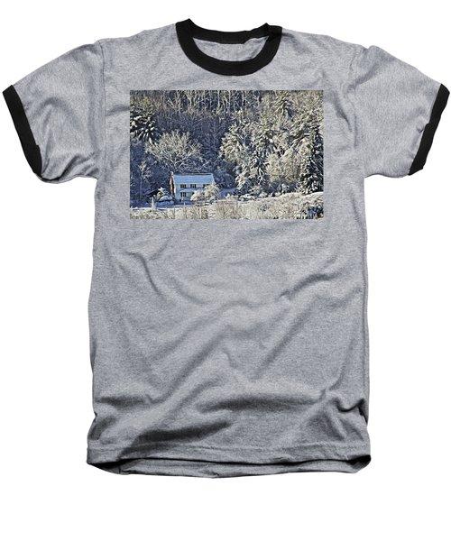 Fresh Snow Baseball T-Shirt by Tom Culver