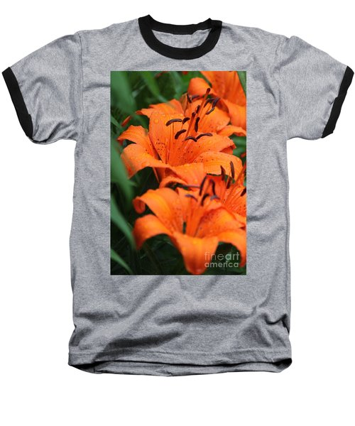 Freshly Showered Tiger Lilys Baseball T-Shirt