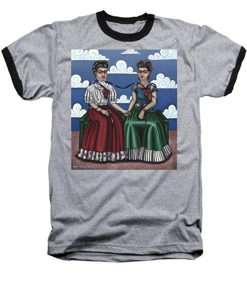 Frida Beside Myself Baseball T-Shirt