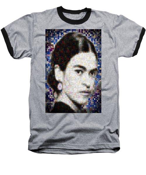 Frida Kahlo Mosaic Baseball T-Shirt