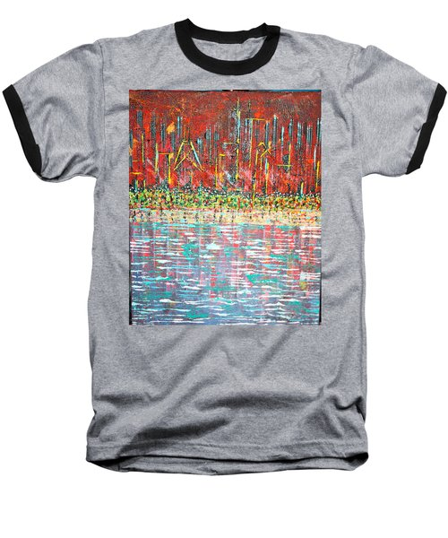 Friday At The Beach - Sold Baseball T-Shirt by George Riney