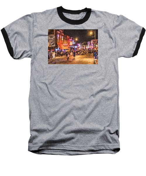 Friday Night On Beale Baseball T-Shirt