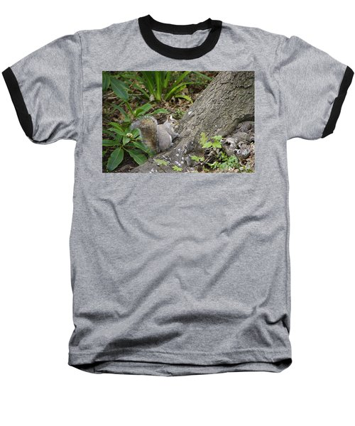 Baseball T-Shirt featuring the photograph Friendly Squirrel by Marilyn Wilson