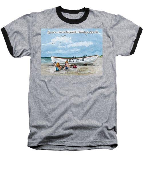 Friends By The Sea  Baseball T-Shirt