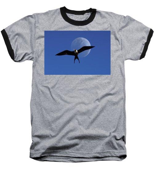 Frigatebird Moon Baseball T-Shirt by Jerry McElroy