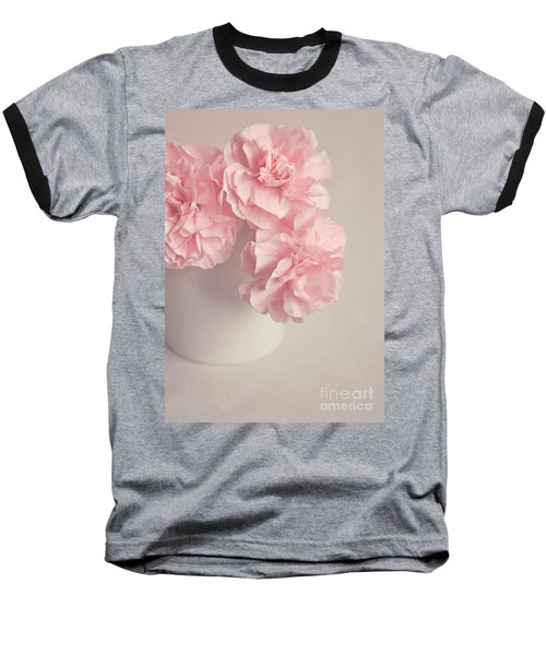Frilly Pink Carnations Baseball T-Shirt