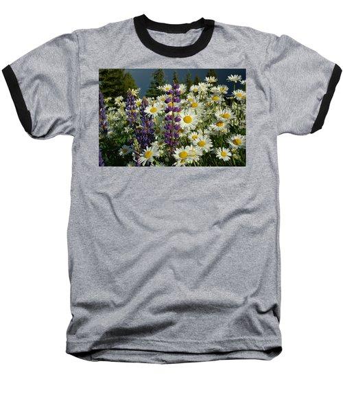 Frisco Flowers Baseball T-Shirt by Lynn Bauer