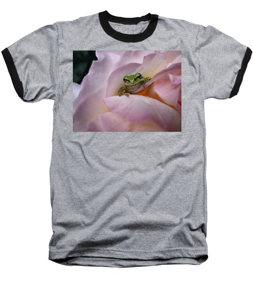 Frog And Rose Photo 1 Baseball T-Shirt