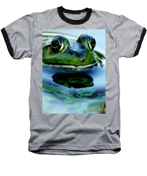 Green Frog I Only Have Eyes For You Baseball T-Shirt by Carol F Austin