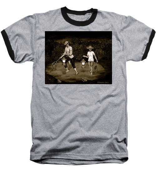 Frog Hunters Black And White Photograph Version Baseball T-Shirt