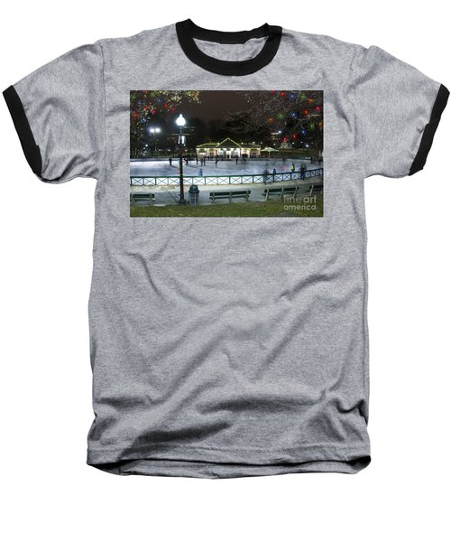 Frog Pond Ice Skating Rink In Boston Commons Baseball T-Shirt