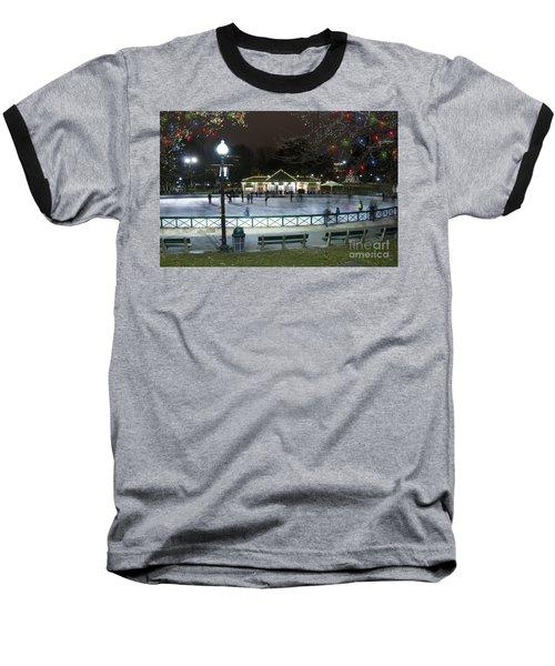 Frog Pond Ice Skating Rink In Boston Commons Baseball T-Shirt