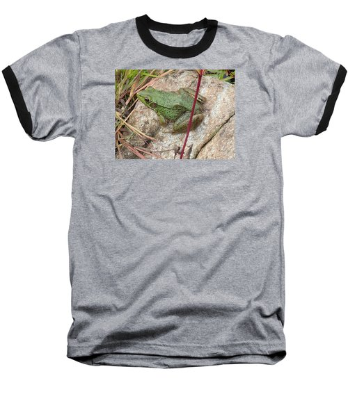 Baseball T-Shirt featuring the photograph Frog by Robert Nickologianis