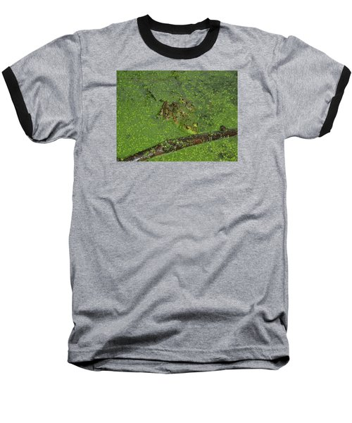 Baseball T-Shirt featuring the photograph Froggie by Robert Nickologianis