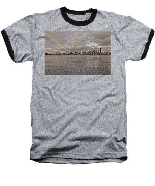 from Alki Beach Seattle skyline Baseball T-Shirt