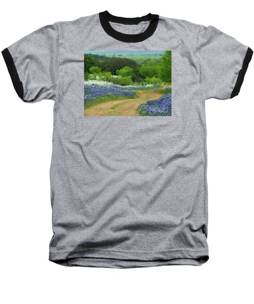 From Here To There Baseball T-Shirt by Joe Jake Pratt