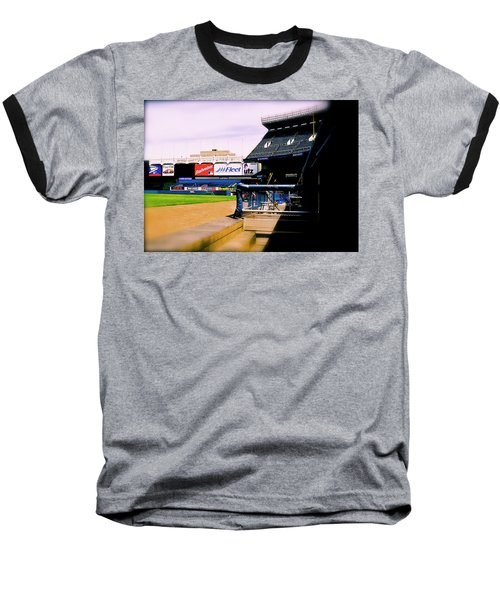 Baseball T-Shirt featuring the photograph From The Dugout  The Yankee Stadium by Iconic Images Art Gallery David Pucciarelli