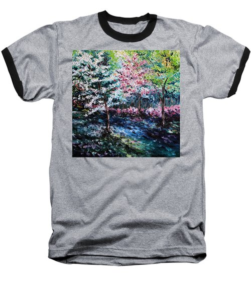 Baseball T-Shirt featuring the painting From The Earth by Meaghan Troup
