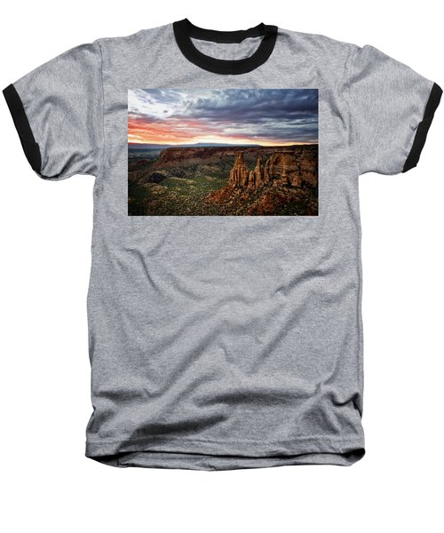 From The Overlook - Colorado National Monument Baseball T-Shirt by Ronda Kimbrow