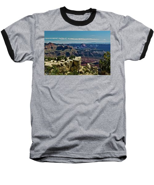 Baseball T-Shirt featuring the photograph From Yaki Point 2 Grand Canyon by Bob and Nadine Johnston