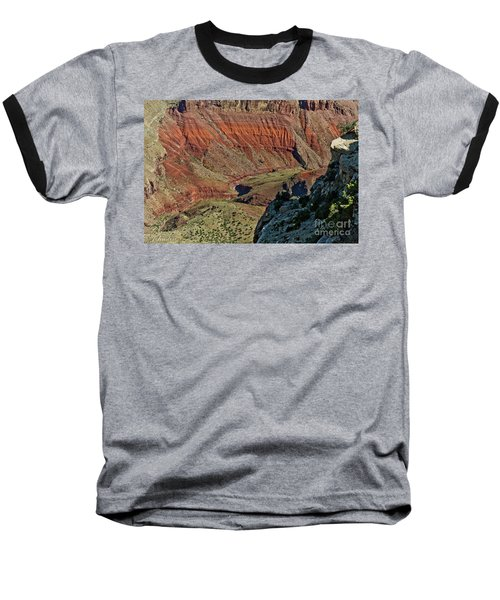 Baseball T-Shirt featuring the photograph From Yaki Point 5 Grand Canyon by Bob and Nadine Johnston