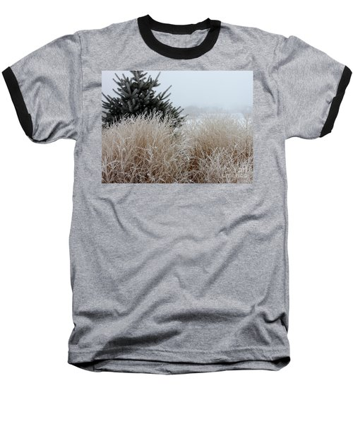 Frosted Grasses Baseball T-Shirt