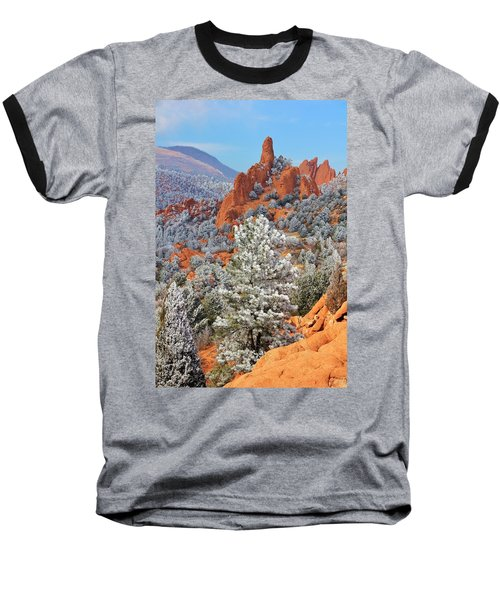 Frosted Wonderland 1 Baseball T-Shirt by Diane Alexander