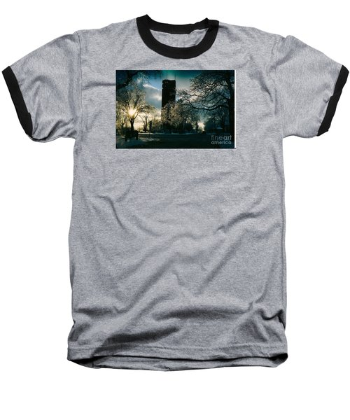 Frosty Sunrise At Tower Park Baseball T-Shirt